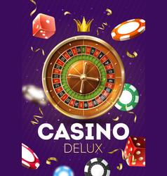 casino deluxe vertical poster vector image
