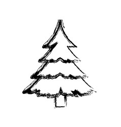 Christmas tree pine ornament cartoon icon vector