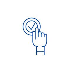 click click box line icon concept click click box vector image