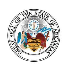 Coat of arms of arkansas usa vector