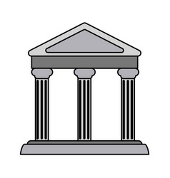 colorful realistic image parthenon architecture vector image