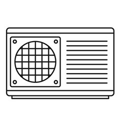 Conditioner part icon outline style vector