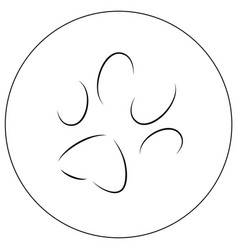 contours of a cats paw print vector image