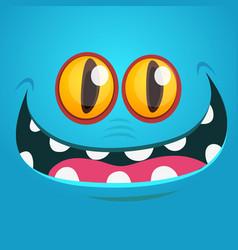Creepy cartoon monster face vector