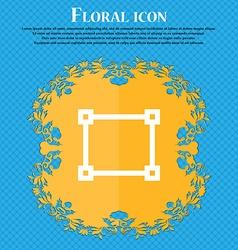 Crops and registration marks floral flat design vector