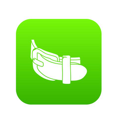 daily belt icon green vector image