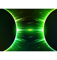 Dark green shining cosmic spheres gravity vector image
