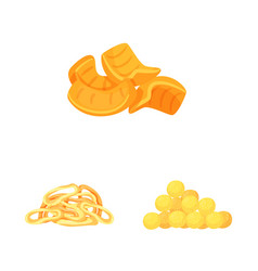 Design food and crunchy icon set of vector