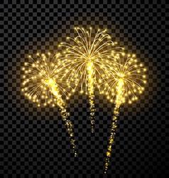 Festive gold firework background vector