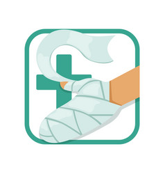 first aid and treatment burns human s hand vector image