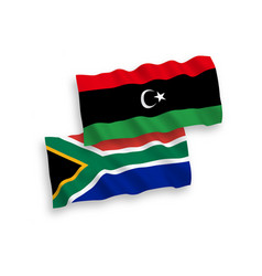 flags libya and republic south africa on a vector image