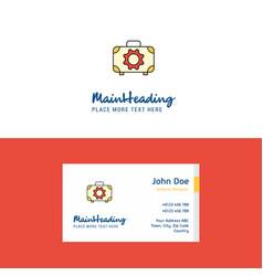 flat toolbox logo and visiting card template vector image