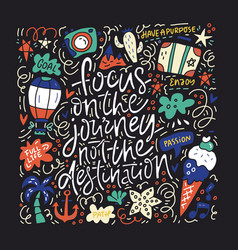 Focus on journey vector