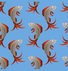 fresh sea fish seamless pattern vector image
