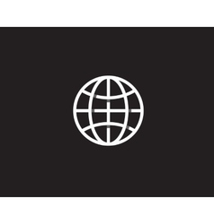 Globe with shadows earth logo overlap vector