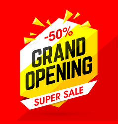 Grand opening super sale vector