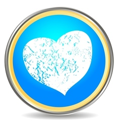 Grunge heart icon vector