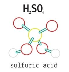 H2SO4 sulfuric acid molecule vector