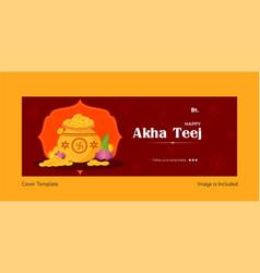 Happy akha teej cover page vector