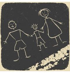 Happy family doodle vector