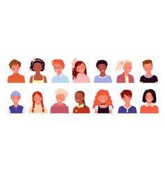 happy kid profile avatar for social media or blog vector image