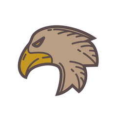Head of eagle bird vector
