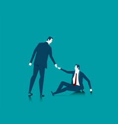 Helping a business or person in need help concept vector