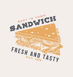 Hot and fresh burger retro badge design vector