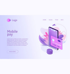 isometric online shopping concept business vector image