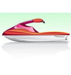 jet ski vector image