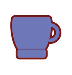 Line color coffee cup drink beverage icon vector