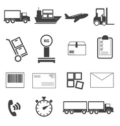 logistic icon set vector image