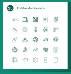 Machine icons vector