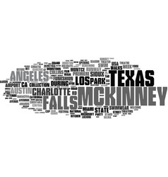 Mckinney word cloud concept vector