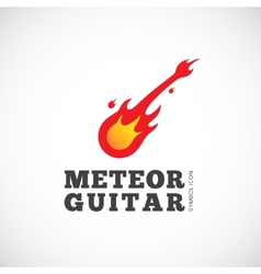 Meteor Guitar Concept Symbol Icon or Logo Template vector