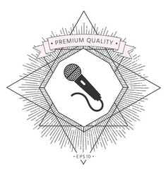 microphone icon symbol vector image