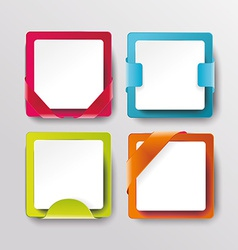 modern banners or frames element design vector image