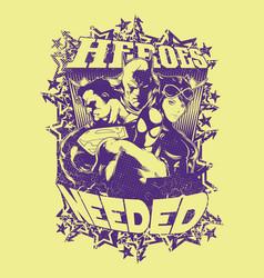 Need heroes vector
