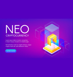 neo cryptocurrency vector image