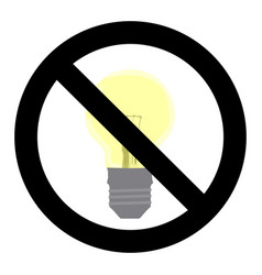 no light symbol do not turn on sign vector image