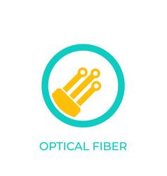 Optical fiber icon on white vector
