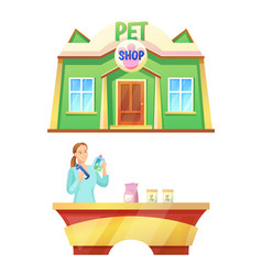 pet shop counter collection vector image
