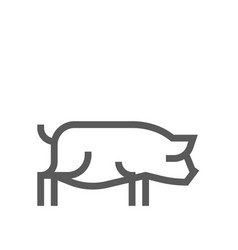 pig farm animal line icon 48x48 pixels vector image
