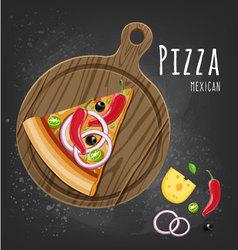 Pizza mexican slice vector