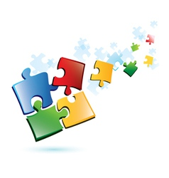Puzzle piecies background vector