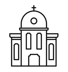 Rural church icon outline style vector