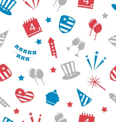 Seamless pattern for independence day america vector
