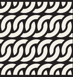 seamless rounded lines pattern modern stylish vector image
