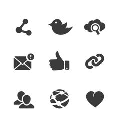 Set social network icons vector
