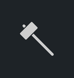 sledgehammer icon simple vector image